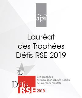 Lauréat de la 7e édition des Trophées Défis RSE 2019